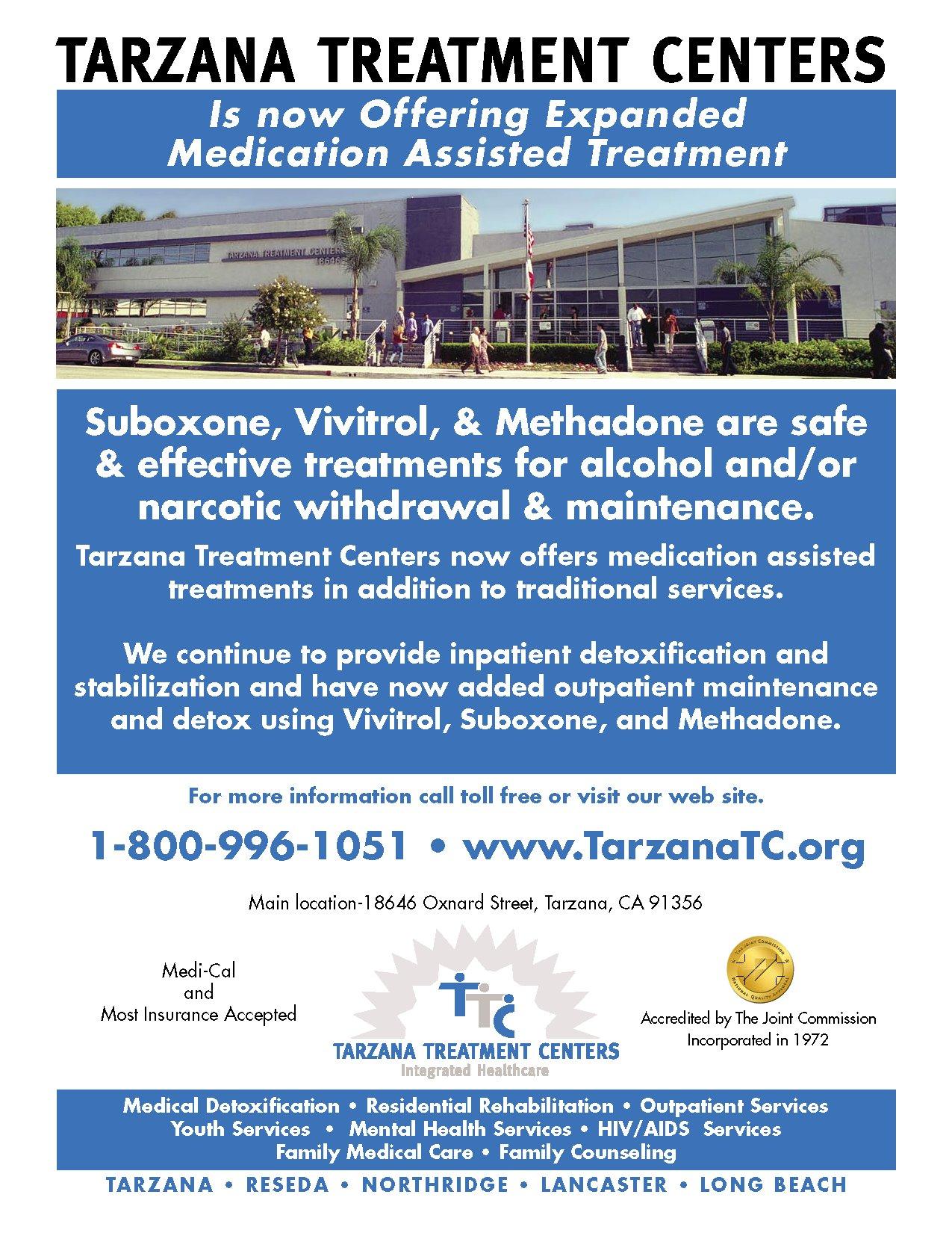 Tarzana Treatment Centers Medication Assisted Treatment